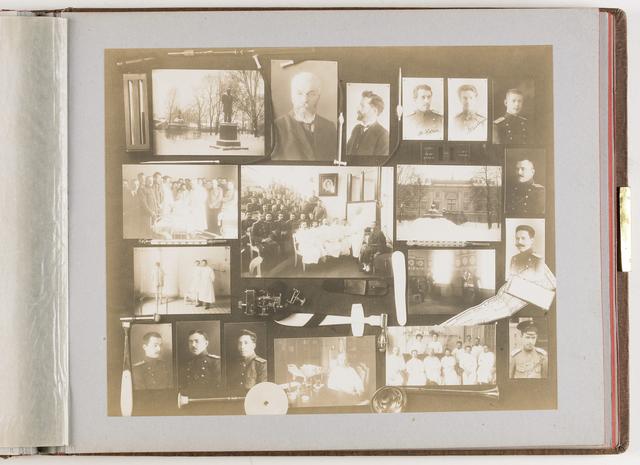 Compositie van 19 foto's en medische instrumenten