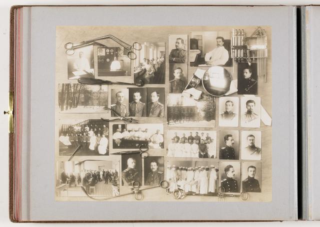 Compositie van 25 foto's en medische instrumenten