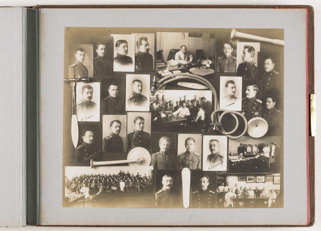 Compositie van 26 foto's en medische instrumenten