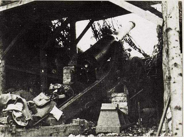 149mm G.Kanone, altes italienisches Eisengeschütz.