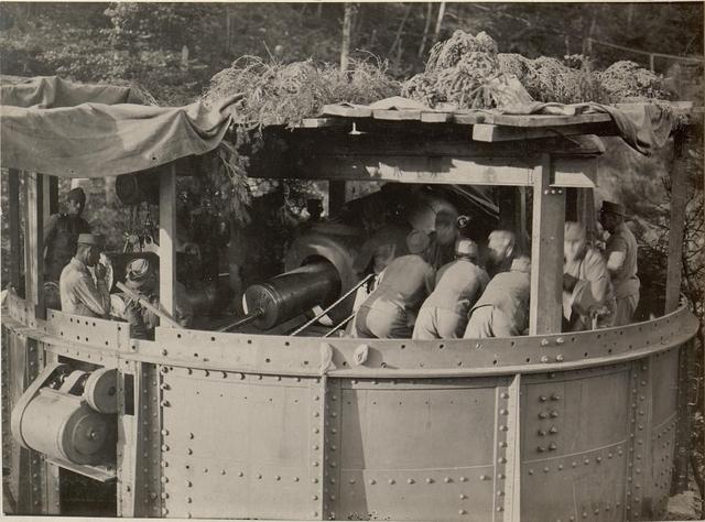 42 cm Haubitzen Stellung im Canaltal bei GUGG. Laden.
