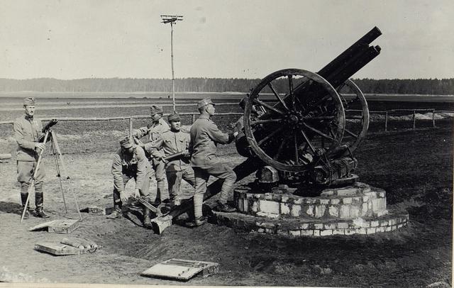 8cm M.05. Feld-Kanone (ohne Schild) als Flugabwehr-Geschütz