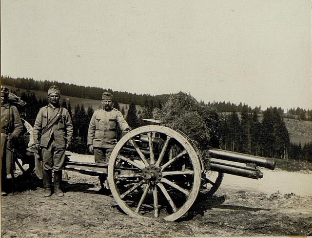 Artillerie auf Lisa Gora.