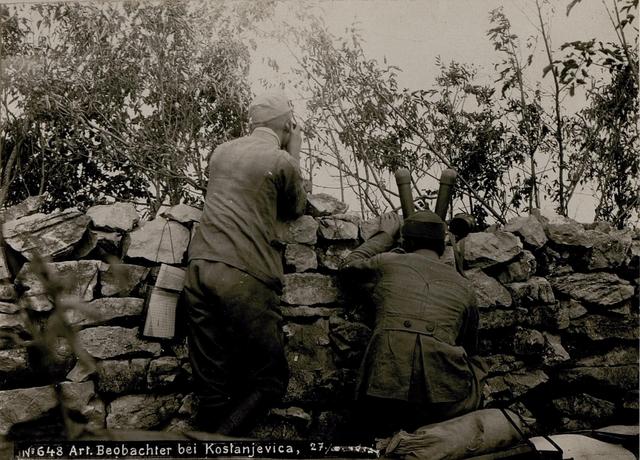 Artillerie-.Beobachter bei Kostanjevica,