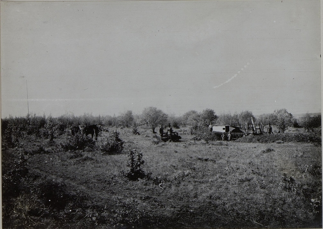 Ballon Abwehr Kanone der Artillerie Division Nro.6. Obstlt. BOTSCHEN, Oblt.Baron BOECK.