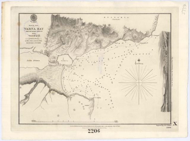 Black sea. Varna bay : From the russian survey of 1829