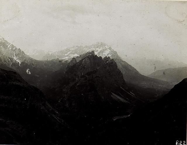 Blick von Lavinores gegen Cortina d'Ampezzo.