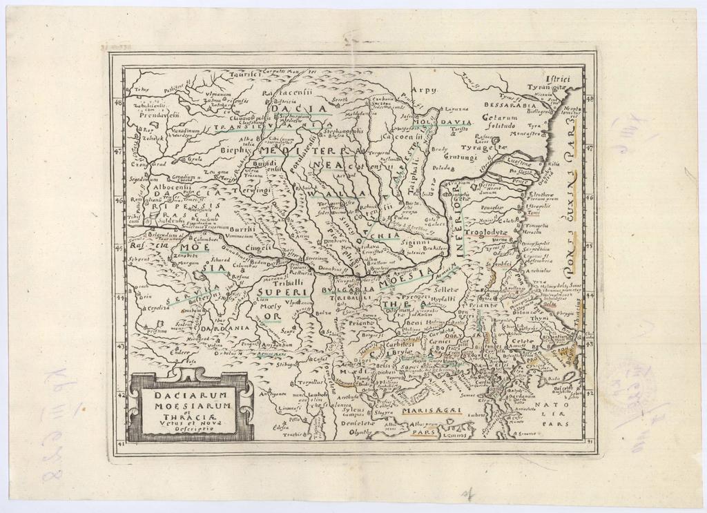 Daciarum Moesiarum et Thraciae Vetus et nova Descriptio : Историческа карта