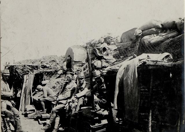 Die durch das deutsche Reserve Jäger Bataillon 15 am 1.7. wiedereroberten Stellungen auf der Worobijowka - Höhe