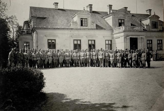 Duschi Sichow.Verabschiedung Sr.Exellenz Dankl  vom 1. Op.Armeekommando gelegentlich seines Abganges nach Trient als Landesverteidigungskommandant