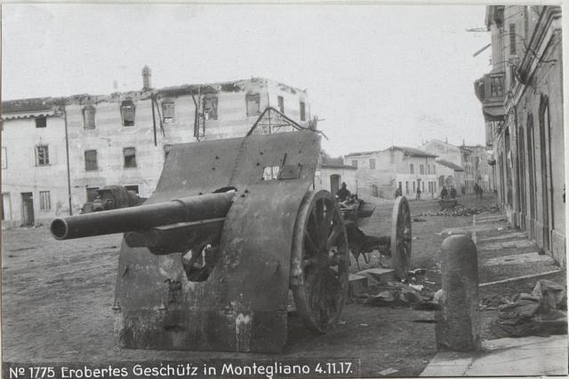 Erobertes Geschütz in Montegliano 4.11.17.