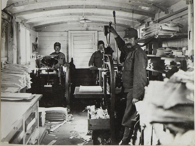 Feldbuchdruckerei-Zug in Kowel