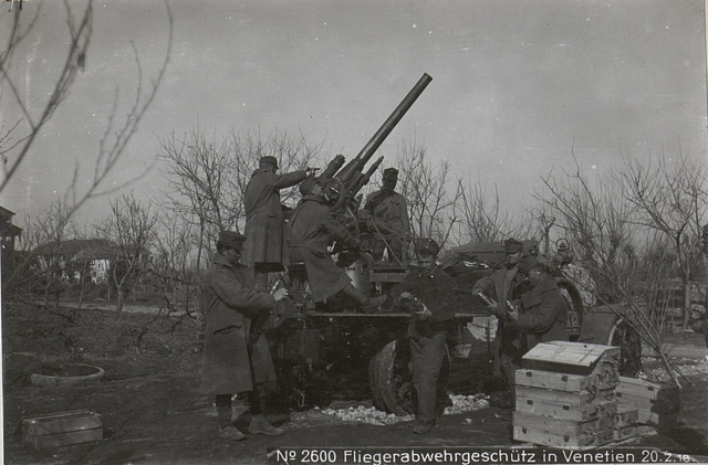 Fliegerabwehrgeschütz in Venetien 20.2.18.