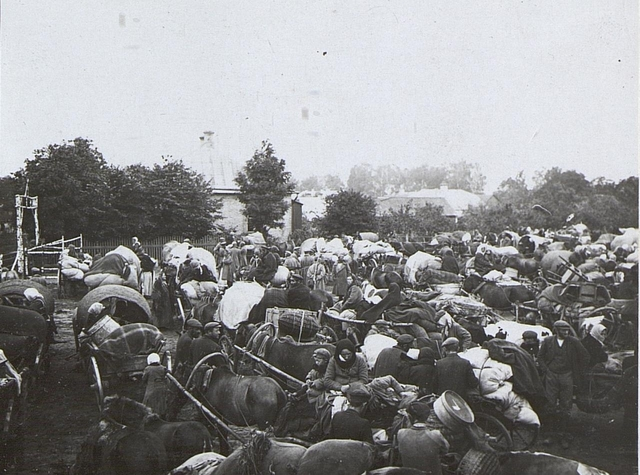 Flüchtlinge in Kowel