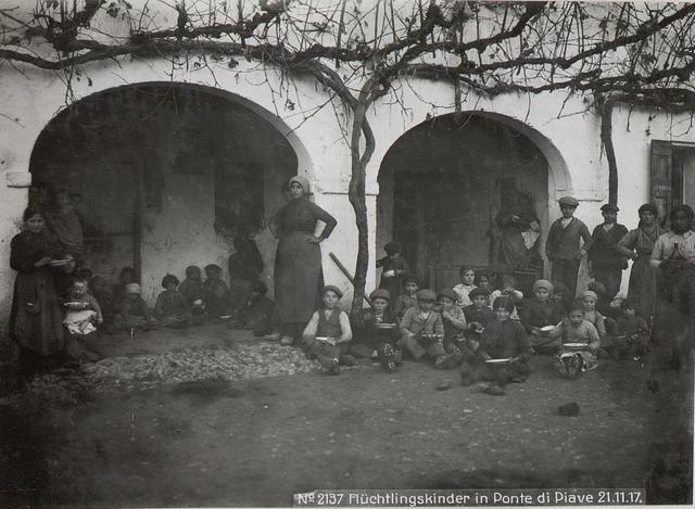 Flüchtlingskinder in Ponte di Piave