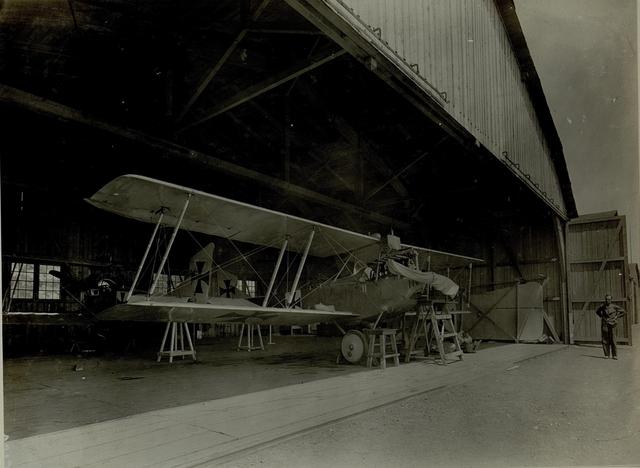 Hangar der 16.Fliegerkompagnie.