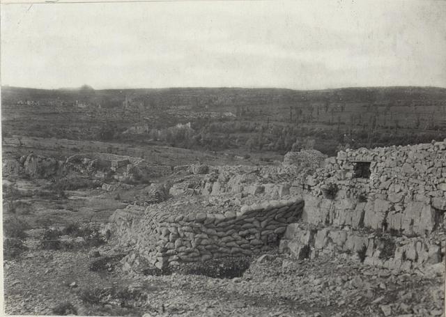 Kampfgebiet bei Monfalcone, gegen Duino.25.6.17.
