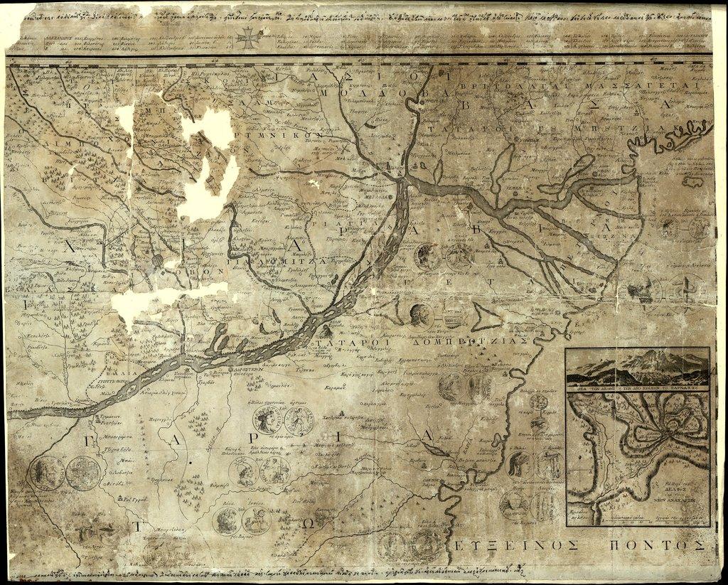[Карта на долното течение на р. Дунав] : [Фрагмент от карта]