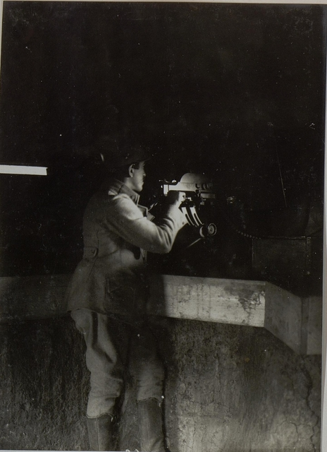 Maschinen Gewehrstand beim Kgl.ung.Lst.Baon.Nro. 6/20.