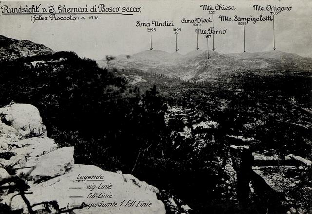 Panorama: J.Ghernari di Bosco secco (False Roccolo.)  (1. Teilbild = WK1_ALB082_24358a)