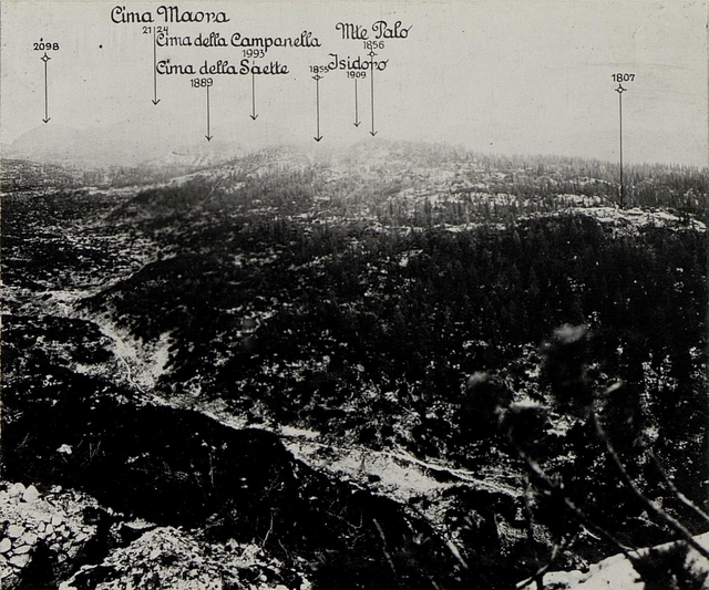 Panorama: J.Ghernari di Bosco secco (False Roccolo.)  (2. Teilbild zu WK1_ALB082_24358a)