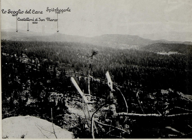 Panorama: J.Ghernari di Bosco secco (False Roccolo.)  (3. Teilbild zu WK1_ALB082_24358a)