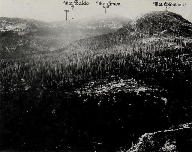 Panorama: J.Ghernari di Bosco secco (False Roccolo.)  (5. Teilbild zu WK1_ALB082_24358a).