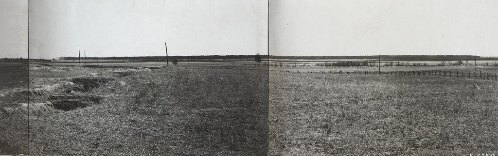 Panorama von Nowy Dwor aus: Sicht gegen die Front.