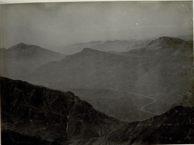 Panoramafoto mit dem Monte Stivo (ganz rechts) und dem Altissimo (links)