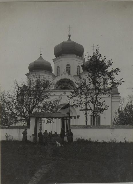 Russ.Kirche die jetzt als Feldspital verwendet wird.Lublamy, 9.10.1915