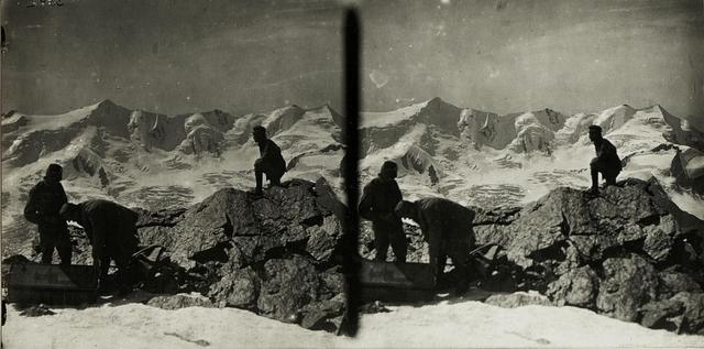 Standpunkt Palon della Mare: Aufstellen der Fernkamera, Hintergrund: Pizzo Tresèro.