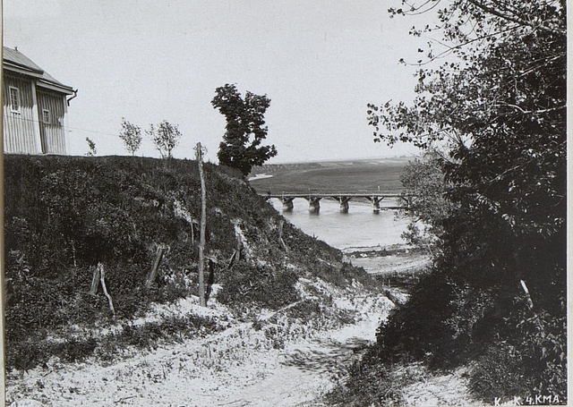 Styrbrücke von Wiluczy nach Wyszkow.