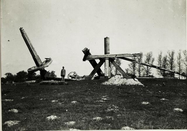 Umgelegte Mühle, welche die Russen als Beobachtungsstand benutzten, bei Sienno.