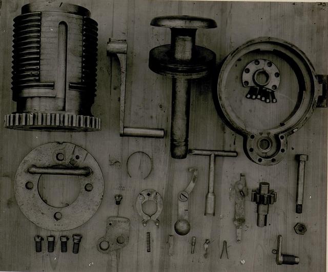 Verschluss für 149mm G.Kanone zerlegt.