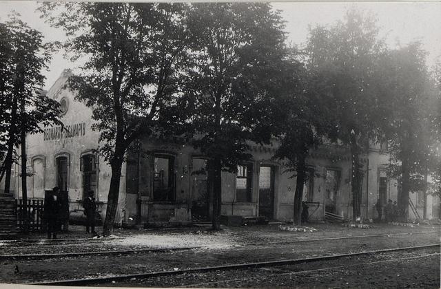 Zerstörter Bahnhof in Bedaròw