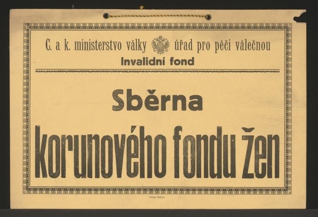 Sammelstelle für den Frauen-Kronenfond - Schild mit Band