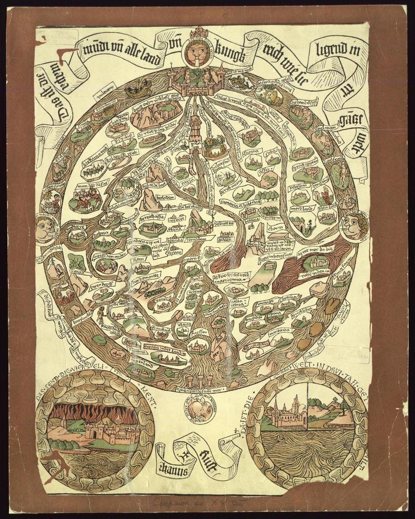 Das ist die Mapamundi und alle Land un Kungkreich wie sie ligend in der ganze Welt, [1480]
