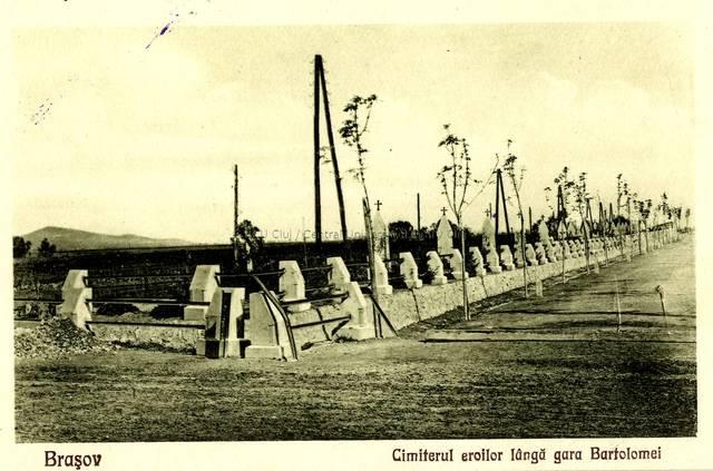 Braşov : cimiterul eroilor lângă gara Bartolomei [material iconografic]
