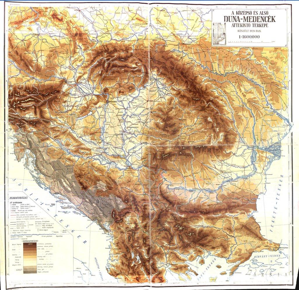 A koezepso es also Duna-medencek attekinto terkepe keszuelt 1926-ban. : Attekinto terkepe keszuelt 1926-ban.