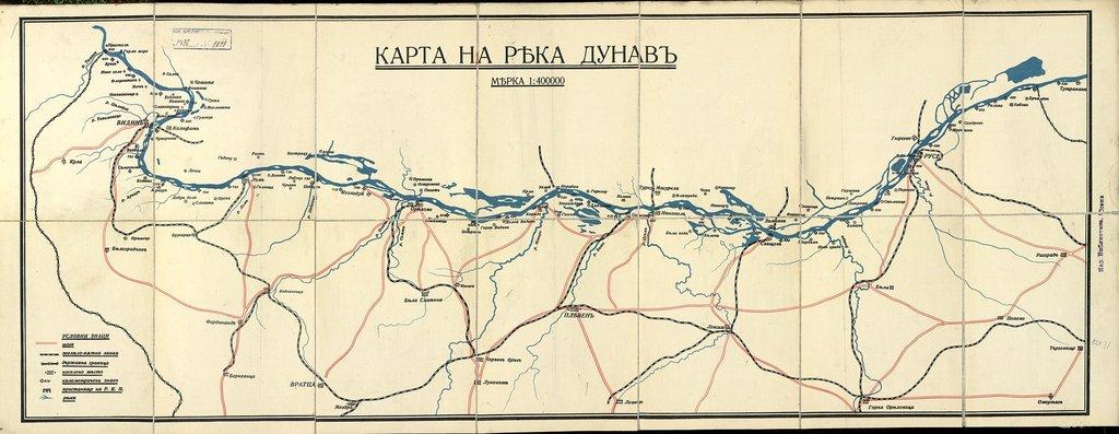 Карта на река Дунав