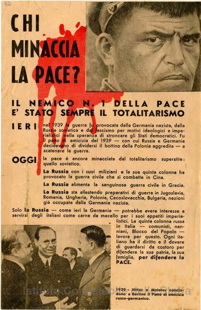Chi minaccia la pace? - Il nemico n.1 della pace è sempre stato il totalitarismo