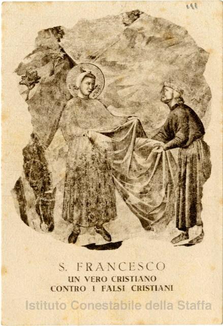 San Francesco : un vero cristiano contro i falsi cristiani