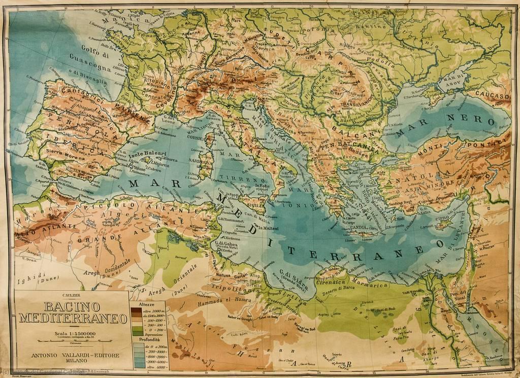 Bacino Mediterraneo [Material cartográfico]