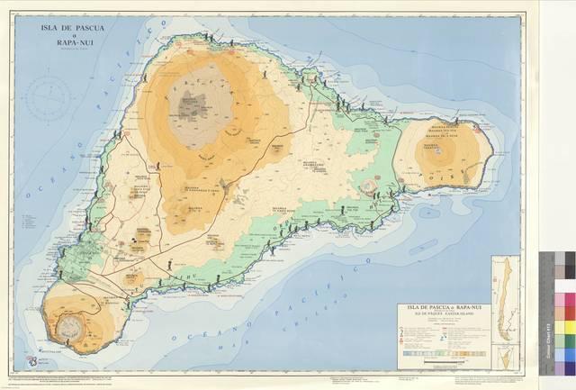 Isla de Pascua o Rapa-Nui : (República de Chile) [Mapa]