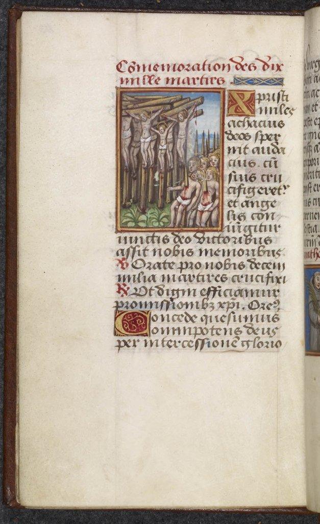 11,000 Martyrs from BL Harley 5049, f. 113v