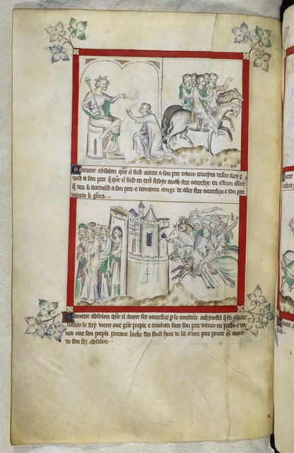 Absalom and David from BL Royal 2 B VII, f. 59v
