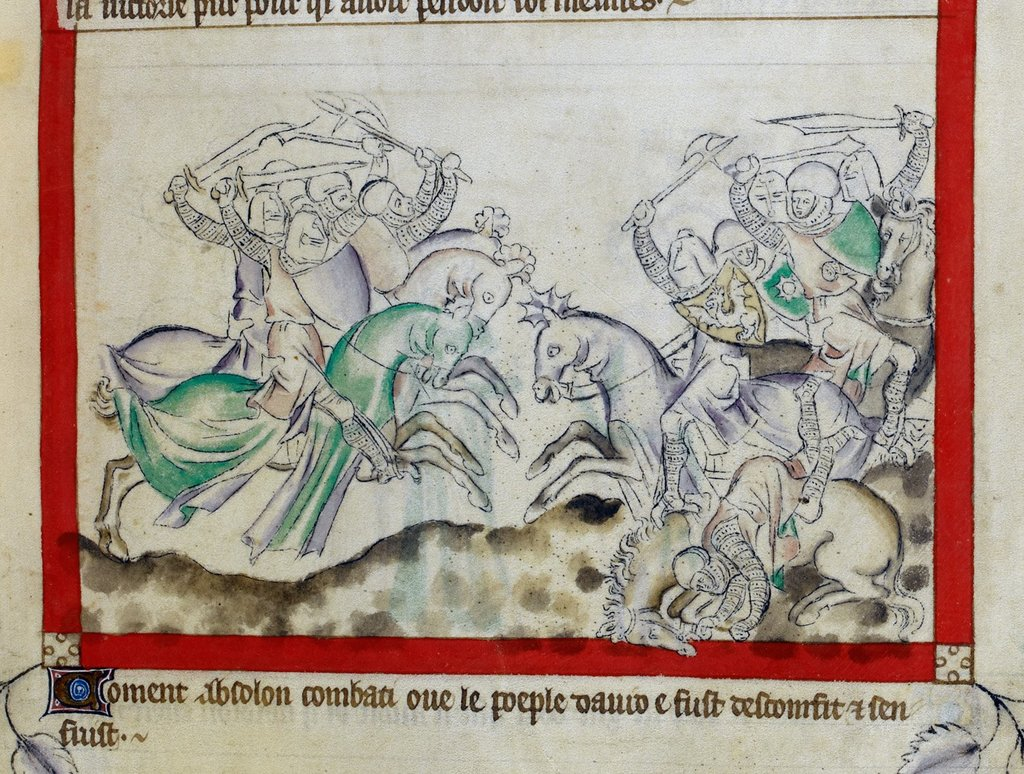Absalom from BL Royal 2 B VII, f. 60