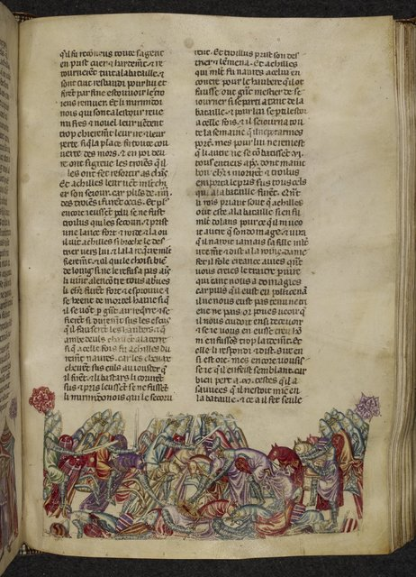 Achilles and Troilus from BL Royal 20 D I, f. 142
