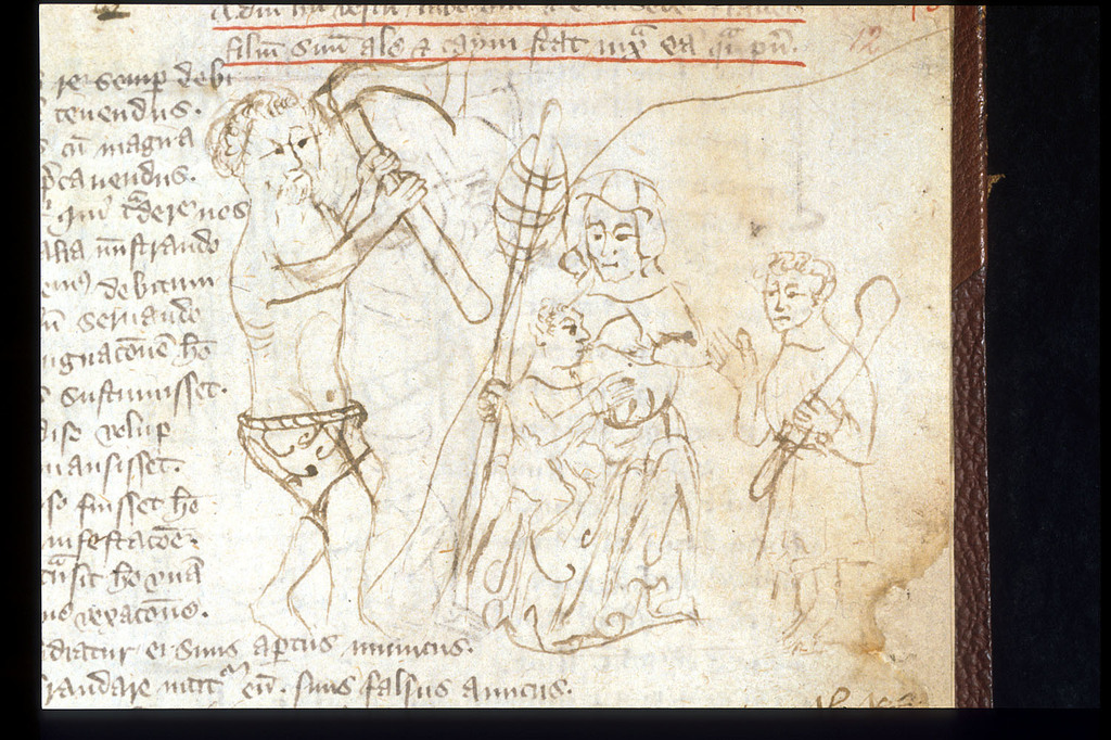 Adam and Eve from BL Sloane 3451, f. 12