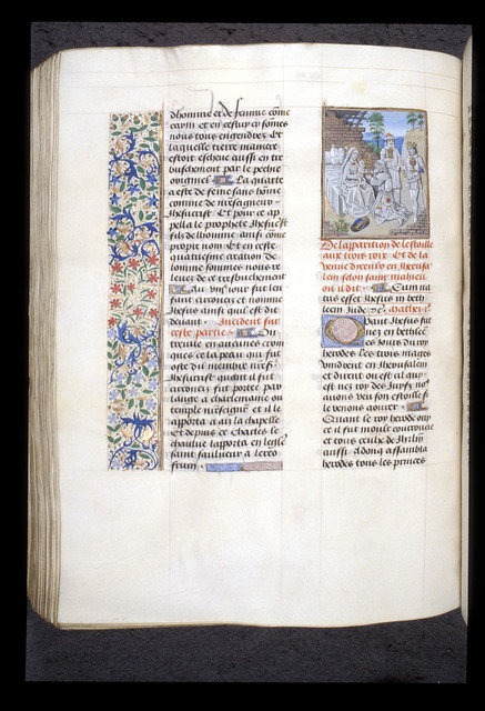 Adoration of the Magi from BL Royal 15 D I, f. 229v